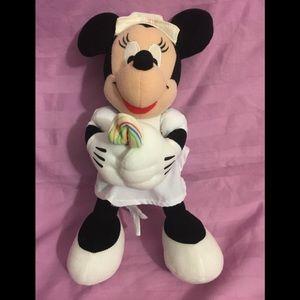 "11"" Disney Minnie Mouse Nurse Candy Striper Plush"